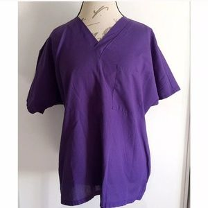 Simply Basic Purple Top Size Medium Medical Scrubs